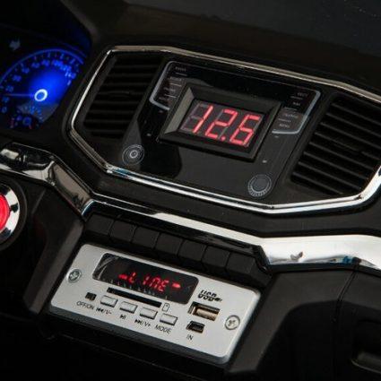 Электромобиль Volkswagen Amarok 2WD синий (легко съемный аккумулятор, 2х местный, резина, кожа, пульт музыка)