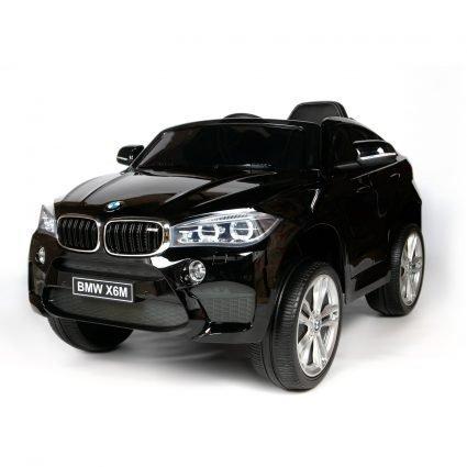 Электромобиль BMW X6M Mini JJ2199 черный (колеса резина, кресло кожа, пульт, музыка)