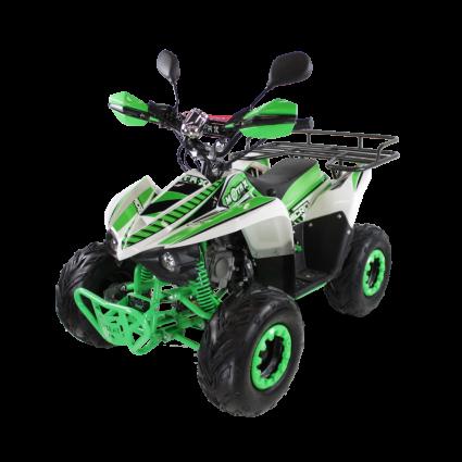 Детский квадроцикл бензиновый MOTAX ATV MIKRO 110 cc бело- зеленый  (пульт контроля, электростартер, до 45 км/ч)