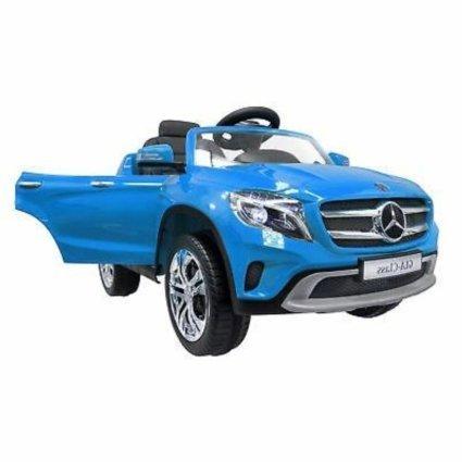 Электромобиль Mercedes Benz GLA белый (колеса резина, кресло кожа, пульт, музыка)