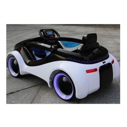 Электромобиль Apple iCar 12V - HL208 белый (колеса с подсветкой, кресло кожа, пульт, музыка)